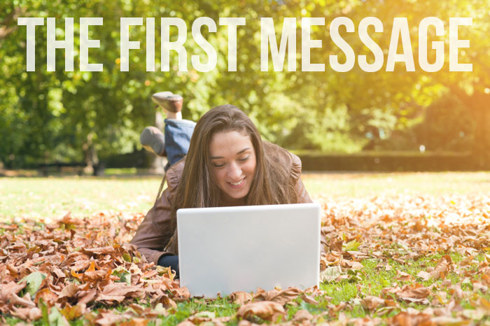 How to write a first online dating message