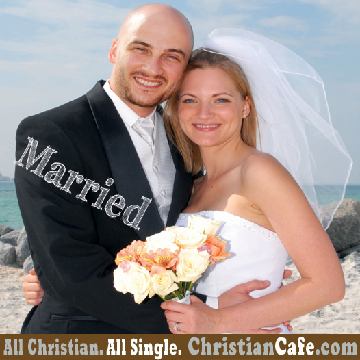 Christian couple getting married.