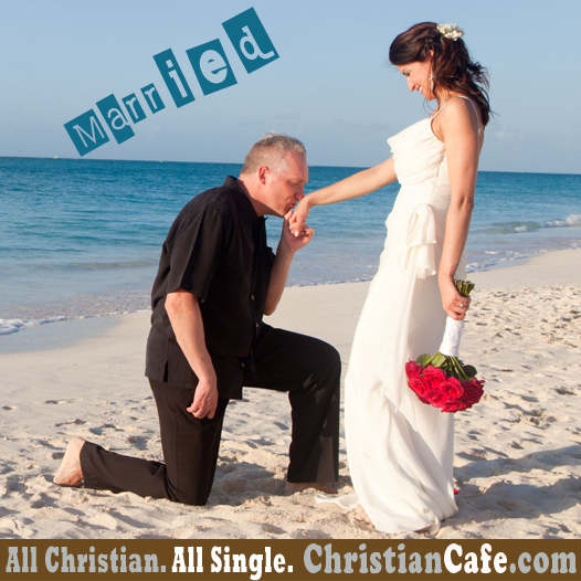 ChristianCafe.com sucessful story. Wedding day.