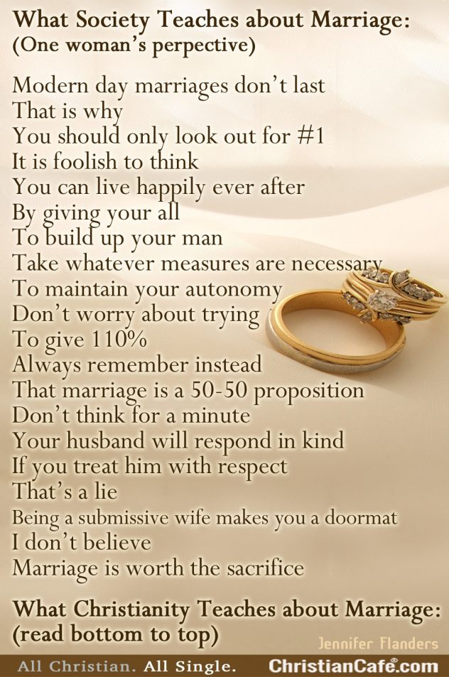 What Society Teaches About Marriage